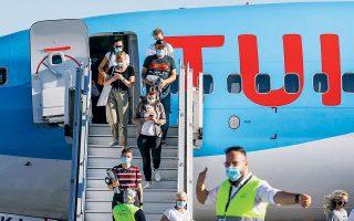 Αυτή τη στιγμή η TUI πουλάει πακέτα διακοπών σε συνεργασία με 3.000 ελληνικά ξενοδοχεία, αριθμός που επίσης ενδέχεται να αυξηθεί εφόσον η ζήτηση το επιτρέψει και ανοίξουν περισσότερες μονάδες στην Ελλάδα (φωτ. Reuters).