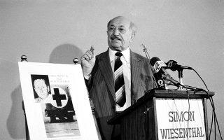 Λος Αντζελες, 1984: ο Σίμον Βίζενταλ ανακοινώνει διεθνή εκστρατεία για την καταδίωξη του ναζί Βάλτερ Ράουφ. (Φωτ. A.P. Photo / Wally Fong)