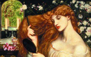 «Λαίδη Λίλιθ», έργο που ο Αγγλος ζωγράφος Ντάντε Γκαμπριέλ Ροσέτι δούλεψε από το 1866 έως το 1873. Ο πίνακας εμπνέεται από τον ιουδαϊκό μύθο της αληθινής πρώτης γυναίκας του Αδάμ, πριν από την Εύα.