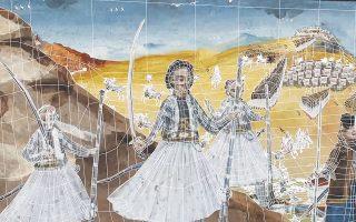 Οι πίνακες των Παναγιώτη και Δημήτρη Ζωγράφου «ζωντανεύουν» και αποκτούν τρίτη διάσταση, με μια διαδικασία που επεξηγείται και εικονογραφικά στον κατάλογο του Φεστιβάλ.