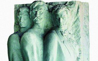 «Ο όρκος των Φιλικών». Γλυπτό στο παράρτημα του Ελληνικού Ιδρύματος Πολιτισμού στην Οδησσό. Ο αδιαπραγμάτευτος φιλελευθερισμός της Φιλικής Εταιρείας δεν είχε θέση στο ανεξάρτητο ελληνικό κράτος του 1830, που είχε λάβει τη μορφή της κληρονομικής μοναρχίας.