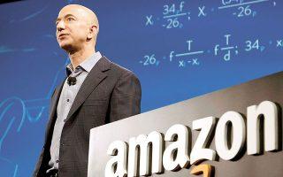 Ο Τζεφ Μπέζος ρευστοποίησε φέτος μετοχές της Amazon αξίας 6,7 δισ. δολαρίων. Ο Λάρι Ελισον πούλησε μόνον μέσα στην προηγούμενη εβδομάδα 7 εκατ. μετοχές της Oracle και άντλησε 552,3 εκατ. δολάρια (φωτ. REUTERS).
