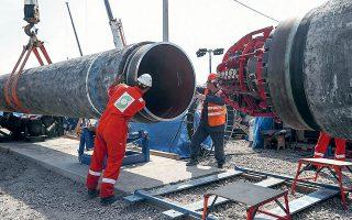 Τον Δεκέμβριο του 2019, η κυβέρνηση Τραμπ επέβαλε κυρώσεις στις εταιρείες που κατασκευάζουν τον αγωγό Nord Stream II, σε μια απόπειρα να αποτρέψει την υλοποίηση του σημαντικότερου έργου ενεργειακής συνεργασίας Ρωσίας - Ευρωπαϊκής Ενωσης (φωτ. REUTERS/Anton Vaganov).
