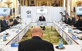 Η σύγκλιση απόψεων στο G7 προλειαίνει το έδαφος για τη σύναψη επίσημης συμφωνίας στο πλαίσιο του ΟΟΣΑ και με τη συμμετοχή του G20. Η φωτογραφία, από συνάντηση των προπαρασκευαστικών εργασιών ενόψει της συνάντησης των επτά ηγετών.