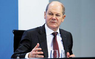 «Συνιστά μεγάλη πρόοδο» η πρόταση των ΗΠΑ για ελάχιστο συντελεστή 15% ή υψηλότερο, τόνισε ο Γερμανός υπουργός Οικονομικών Ολαφ Σολτς (φωτ. REUTERS).