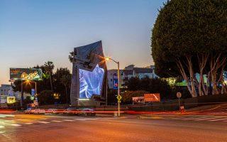 Η πιο πρόσφατη διαφημιστική πινακίδα του Λος Αντζελες μοιάζει με γλυπτό.
