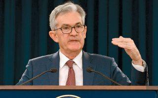 Η Fed εξετάζει τα πλεονεκτήματα και μειονεκτήματα της έκδοσης ψηφιακού νομίσματος και σύντομα θα θέσει το θέμα σε δημόσια διαβούλευση, τόνισε ο κ. Πάουελ. Από την πλευρά του, το αμερικανικό υπ. Οικονομικών χαρακτηρίζει τα κρυπτονομίσματα εργαλεία φοροδιαφυγής και χρηματοδότησης παράνομων δραστηριοτήτων (φωτ. ΑΡ).