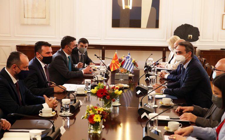 Στην ανάγκη να ανοίξει ο τουρισμός ανάμεσα στην Ελλάδα και στη Βόρεια Μακεδονία αναφέρθηκε χθες ο Ζόραν Ζάεφ (φωτ. ΑΠΕ-ΜΠΕ/Αλέξανδρος Μπελτές).