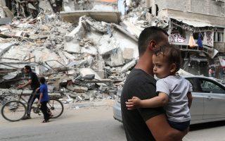 Εμφανής η ανακούφιση στη Γάζα από την κατάπαυση του πυρός που επιτεύχθηκε χάρη στη διαμεσολάβηση του προέδρου της Αιγύπτου Αμπντέλ-Φατάχ Αλ Σίσι (φωτ.: Reuters).
