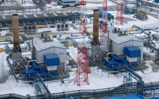 Οι εγκαταστάσεις της εταιρίας Gazprom στη χερσόνησο Γιαμάλ της βόρειας Ρωσίας (φωτ.: Reuters).