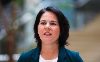 H ανάδειξη της Αναλένα Μπέρμποκ σε υποψήφια καγκελάριο έχει αυξήσει τις επιθέσεις που δέχεται μέσω Διαδικτύου (φωτ. AP Photo/Markus Schreiber).