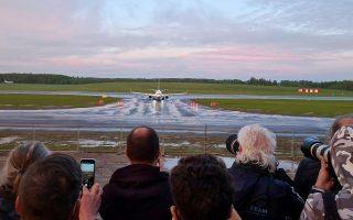 Η πτήση της Ryanair προσγειώθηκε τελικά το βράδυ της Κυριακής στο Βίλνιους (φωτ.: Reuters).
