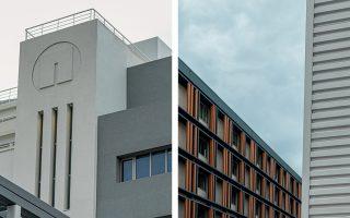 Η νέα εποχή των τριών κτιρίων της παλιάς καπνοβιομηχανίας έχει έντονη αρχιτεκτονική σφραγίδα. (Φωτογραφίες: Διονύσης Ανδριανόπουλος)