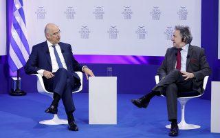 Από αριστερά ο κ. Νίκος Δένδιας, Υπουργός Εξωτερικών της Ελλάδας και ο κ. Γιώργος Κατρούγκαλος, Βουλευτής και τ. ΥΠΕΞ
