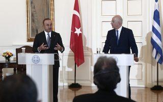 Φωτ. αρχείου ΙΝΤΙΜΕ: Από την επίσκεψη του Τούρκου ΥΠΕΞ στην Ελλάδα στα τέλη Μαΐου