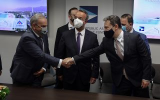 Φωτ. ΙΝΤΙΜΕ: Στα γραφεία του ΤΑΙΠΕΔ ολοκληρώθηκε η πώληση και μεταβίβαση της «Ελληνικό ΑΕ»
