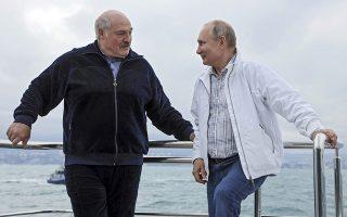 Φωτ: Kremlin Pool Photo via AP - Την περασμένη εβδομάδα ο Αλεξάντρ Λουκασένκο συναντήθηκε στο Σότσι της Μαύρης Θάλασσας με τον Βλαντίμιρ Πούτιν