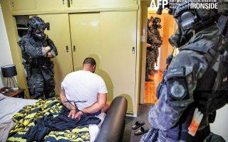 Περισσότεροι από 800 εγκληματίες σε πολλές χώρες του κόσμου συνελήφθησαν, μετά την υποκλοπή κρυπτογραφημένων μηνυμάτων τους από το αμερικανικό FBI (φωτ. Australian Federal Police / Handout via REUTERS).