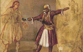«Ο Κολοκοτρώνης ορκίζει τον γιο του», του Διονυσίου Τσόκου. Εκτίθεται στο Παράρτημα Κέρκυρας της Εθνικής Πινακοθήκης (συλλογή Κουτλίδη).