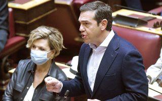 Μετά το «όχι» του προέδρου του Σώματος, ο κ. Τσίπρας ανέφερε –κατά πληροφορίες– ότι «θα λογοδοτήσετε γι' αυτό που κάνετε», με τον κ. Τασούλα να απαντά ότι «δεν θα μετατρέψουμε τη Βουλή σε αχρείαστο σκηνικό πολιτικού ή κομματικού ακτιβισμού» (φωτ. INTIME NEWS).