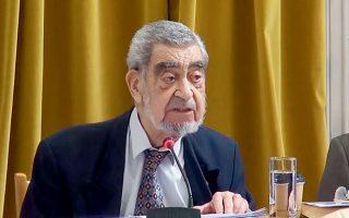 Ο ακαδημαϊκός καθηγητής της Φιλοσοφικής Σχολής του Πανεπιστημίου Αθηνών Ευ. Μουτσόπουλος αναδείχθηκε διεθνώς ως ο φιλόσοφος της δυναμικής δομοκρατίας, με τεράστια προβολή (φωτ. ΑΚΑΔΗΜΙΑ ΑΘΗΝΩΝ).