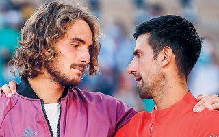 Ο Στέφανος, πέραν της αναγνώρισης της οποίας έτυχε από τον σπουδαίο Τζόκοβιτς, και όχι μόνο από αυτόν, έβαλε στο ταμείο του και 750 χιλ. ευρώ, ενώ σκαρφάλωσε από την 5η στην 4η θέση, έχοντας μπροστά του μόνο τους Τζόκοβιτς, Μεντβέντεφ και Ναδάλ (φωτ. REUTERS/Gonzalo Fuentes).