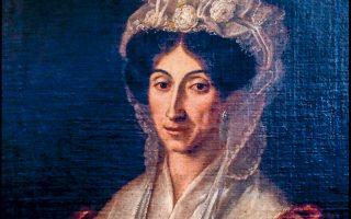 Προσωπογραφία της Ελισάβετ Μουτζάν - Μαρτινέγκου από τον ζωγράφο Νικόλαο Καντούνη.