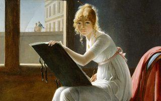 Μαρί-Ντενίζ Βιγιέρ, πορτρέτο (λεπτομέρεια) της Σαρλότ ντε Βαλ Ονς, ελαιογραφία του 1801. (Φωτ. Metropolitan Museum of Art - New York City)