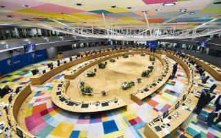 «Η Ε.Ε. θα συνεχίσει να παίζει ενεργό ρόλο στην υποστήριξη της διαδικασίας για την επίλυση του Κυπριακού», τονίζεται στο προσχέδιο των συμπερασμάτων του Ευρωπαϊκού Συμβουλίου (φωτ. John Thys, Pool via A.P.).
