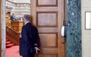 Αιχμηρά βέλη αντήλλαξαν χθες Κυρ. Μητσοτάκης και Αλ. Τσίπρας, ανεβάζοντας το πολιτικό θερμόμετρο στα ύψη, ενώ οι εκπρόσωποι της ελάσσονος αντιπολίτευσης εξαπέλυσαν πυρά προς την κυβέρνηση για το εργασιακό νομοσχέδιο (φωτ. INTIME NEWS).