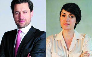 Ο κ. Βλάσης Σουφλής, Director of International Business Development της Lightsource bp, και η κυρία Ναταλία Παρασκευοπούλου, Senior Manager, International Business Development.