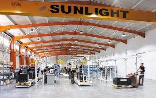 H Sunlight κατάφερε να συντηρήσει ή και να αυξήσει τα μερίδια αγοράς της στις καίριες αγορές της Ευρώπης και της Βόρειας Αμερικής, παρά το γεγονός ότι οι κλάδοι όπου δραστηριοποιείται εμφάνισαν μείωση 20% παγκοσμίως.