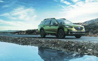 Το νέο Subaru Outback απέχει 21,3 εκατοστά από το έδαφος, αρκετά για να έχετε το κεφάλι σας ήσυχο όταν περνάτε από κακοτράχαλα μονοπάτια.