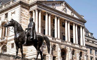 «Oι υπολογισμοί των χρηματιστηριακών αγορών για την πορεία του πληθωρισμού δείχνουν πως η άνοδός του σε μεσοπρόθεσμο ορίζοντα αναμένεται να είναι προσωρινή», επεσήμανε χαρακτηριστικά σε ανακοίνωσή της η Τράπεζα της Αγγλίας (φωτ.Reuters).