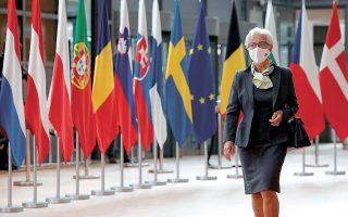 Η πρόεδρος της ΕΚΤ κάλεσε τους Ευρωπαίους ηγέτες να προχωρήσουν στη δημιουργία της ενιαίας αγοράς κεφαλαίων της Ε.Ε. και να ολοκληρώσουν την τραπεζική ένωση, που, όπως τόνισε, παραμένει ατελής αν όχι εντελώς στα χαρτιά, ύστερα από χρόνια διαπραγματεύσεων (φωτ. REUTERS).