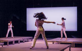 Η ομάδα ZHTA στην παράσταση «A dance as a dance» στο Φεστιβάλ Αθηνών. (Φωτ. ΠΗΝΕΛΟΠΗ ΓΕΡΑΣΙΜΟΥ)