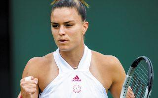 Η Ελληνίδα πρωταθλήτρια θα αντιμετωπίσει σήμερα τη Σέλμπι Ρότζερς. (Φωτ. EPA/NEIL HALL)