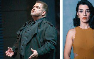 Ο Δημήτρης Πλατανιάς στο All Star Γκαλά Βέρντι και η Λουκία Μιχαλοπούλου στις «Φοίνισσες» του Ευριπίδη.