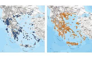 Στα σημεία με ιώδες και κίτρινο χρώμα θα προστεθούν και νέα με τις θέσεις των μουσείων σε όλη την Ελλάδα.