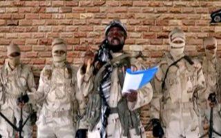 Ο ηγέτης της Μπόκο Χαράμ, από παλαιότερο μαγνητοσκοπημένο του μήνυμα (φωτ.: Reuters).