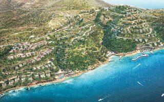 Η τουριστική επένδυση θα υλοποιηθεί σε τμήμα έκτασης 840 στρεμμάτων που έχει προέλθει από τη συνένωση επιμέρους ιδιοκτησιών και χωρίζεται σε έξι αυτοτελείς ενότητες (Τσιφλίκι, Ελληνικά, Κούνδουρος, Ακρωτήρι, Μικρό Βαθύ και Βαθύ). Στο Ακρωτήρι λειτουργεί από πέρυσι το ξενοδοχείο Island Concept.