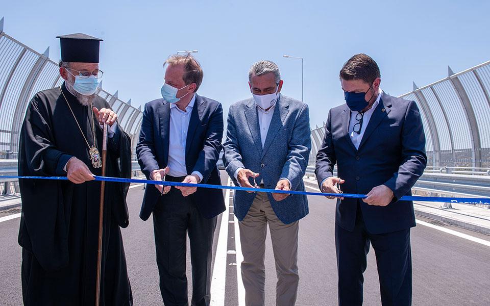 Ρόδος: Εγκαινιάστηκε η νέα γέφυρα του ποταμού Μάκκαρη