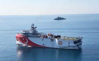 Σε αντίθεση με τα τουρκικά γεωτρύπανα, το «Ορούτς Ρέις» βρίσκεται σε κοντινή απόσταση από την Κυπριακή Δημοκρατία (φωτ. EPA).