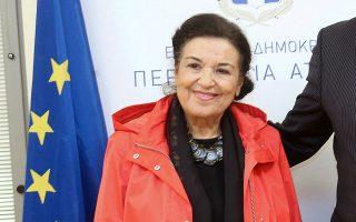Η διευθύντρια της Εθνικής Πινακοθήκης, Μαρίνα Λαμπράκη-Πλάκα (φωτ. ΑΠΕ- ΜΠΕ).