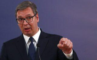 O Αλεξάνταρ Βούτσιτς τόνισε ότι η απόφαση θα ληφθεί με γνώμονα τα συμφέροντα της Σερβίας.  Φωτ. A.P.