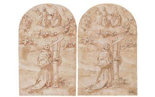 Ειδικοί εκτιμούν ότι το έργο της Πινακοθήκης (αριστερά) υπέστη πλαστογράφηση μετά την κλοπή, με την προσθήκη ενός φανταστικού αριθμού 3Β και μιας δήθεν υπογραφής με μαύρο μαρκαδόρο.