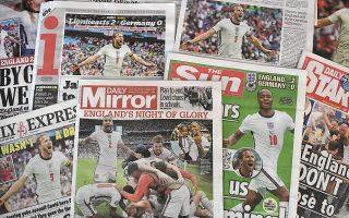 Από τον αγγλικό Τύπο, μόνο η Sun είχε στην πρώτη σελίδα της τον Στέρλινγκ. Οι άλλες επέλεξαν τον λευκό Κέιν...