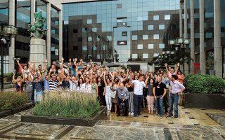 Η ομάδα του Corallia του ερευνητικού κέντρου «Αθηνά» με συνεργάτες, σε διαγωνισμό καινοτομίας.