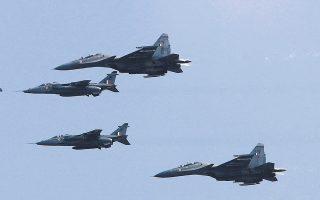 Στο πλαίσιο της στρατιωτικής συνεργασίας Τουρκίας - Κατάρ, Τούρκοι πιλότοι θα εκπαιδευθούν στα καταριανά μαχητικά Rafale και Mirage 2000-5, τα οποία δεν έχει στο οπλοστάσιό της η τουρκική αεροπορία. (Φωτ. ASSOCIATED PRESS)