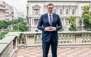 Ο πρόεδρος της Σερβίας, Αλεξάνταρ Βούτσιτς, προσφάτως ανακοίνωσε ότι η Εθνική Τράπεζα ενδιαφέρεται να αυξήσει τα αποθέματά της από τους 36,3 στους 50 τόνους συνολικά (φωτ. REUTERS).